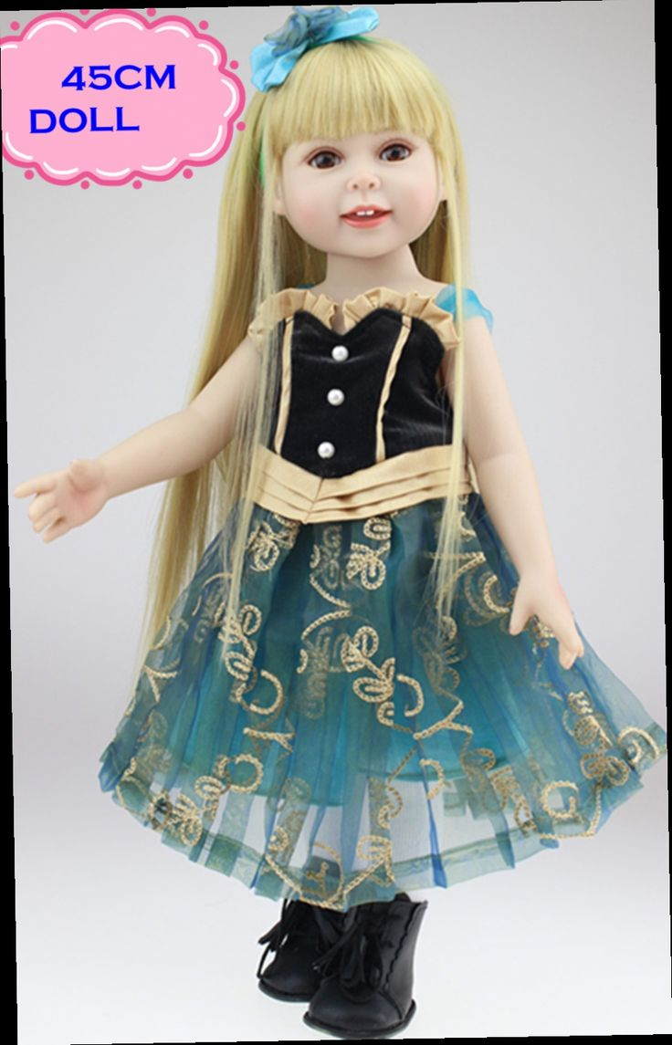 52.48$  Watch now - http://ali6eh.worldwells.pw/go.php?t=32680079977 - Hot Sale 18inch American Girl Doll Brinquedos Menina Best Gift Toys For Girls Pretty Reborn Baby Doll With Unique Handmade Skirt