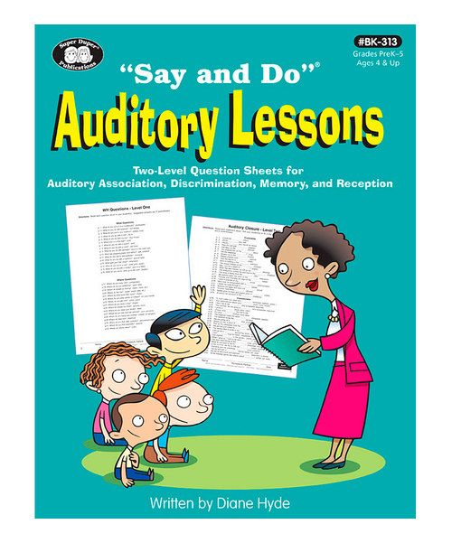 Take a look at the Say & Do Auditory Lessons Workbook on #zulily today!
