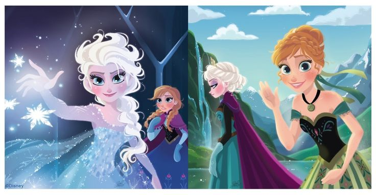fancysomedisneymagic:  Frozen art by David Gilson Illustration from a small graphic book based on the upcoming Disney feature,Frozen.