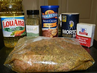 Wildtree Italian Herb Crusted Pork Chops.  This has become a staple at our house. Use a broiler pan for crispier breading.