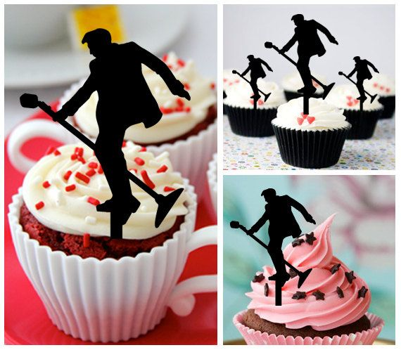 Ca441 New Arrival 10 pcs/Decorations Cupcake Topper/ Elvis - rock and roll /Wedding/Props/Party/Food & drink/Vintage/Fun/Birthday/Shop