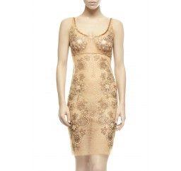 Lotus Pearl Slip Dress