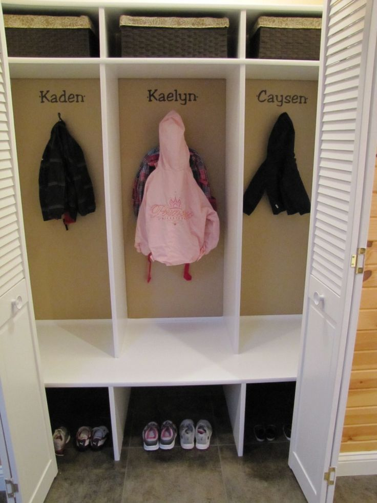 DIY Kidsu0027 Cubbies/Lockers For The Home!
