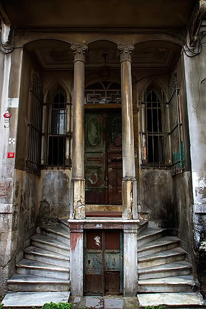 staircase at old houses istanbul - Google Search
