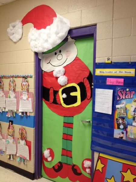 Elf Santa Christmas Door Decoration Ideas