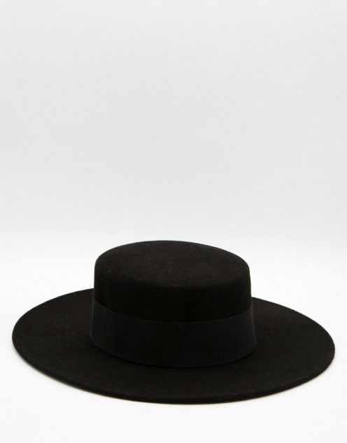 ccf8431c60d56d Image 1 ofCatarzi Flat Top Wide Brim Hat #witchhats #witch #hats #aesthetic