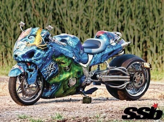 Nightmare Before Christmas Themed  2000 Suzuki Hayabusa
