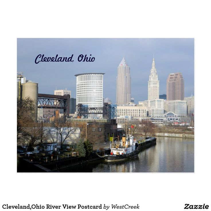 Cleveland,Ohio River View Postcard SOLD Thank you to the local Ohio buyer!