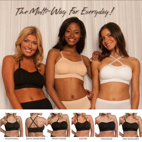 Convertible Strap Brafeatures adjustable comfort straps that convert to multiple positions: traditional, front crisscross, racer back, one shoulder, halter etc. Constructed with everlastingcomfort stretch fabric, this bra is free of underwires and back hooks and has soft contour cups to help eliminate spillage. Achieve comfort, support andgood style with this fabulous bra. FEATURES Coordinating color strap and one clear strap included 30+ individual placements for a customized fit Easy…