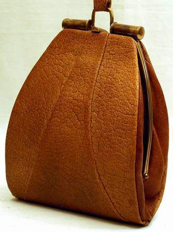 Vintage 1920's Charlton leather handbag
