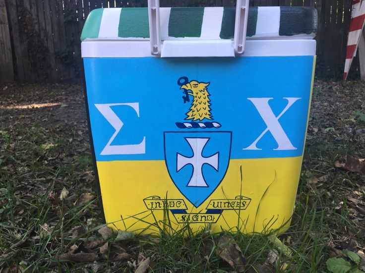 Sigma chi painted cooler