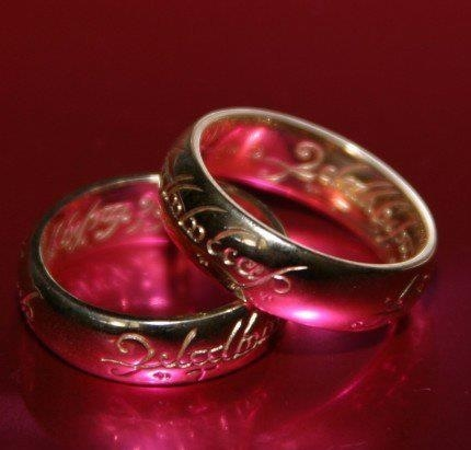 The wedding ring to rule them all?? How hilarious would that be for the groom??