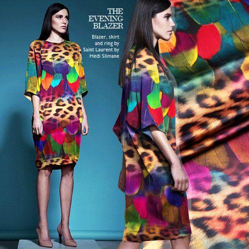 Spandex Seide Stoff Digital gedruckt Seide Stoff Kleid Cheongsam Stoff Bettwäsche, Stoff 118 x 50 cm - Baowenyumao - Leopard und Federn