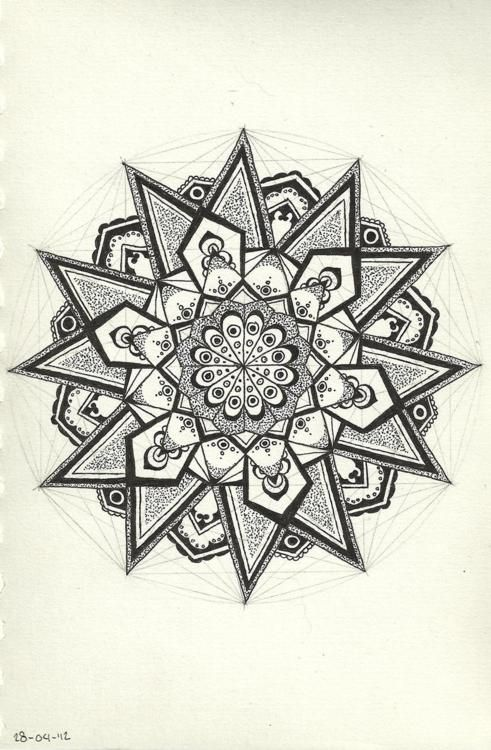 मण्डल; Mandalas represent the universe in Hinduism and Buddhism, also exhibiting balance. It is also seen in Christian architecture.