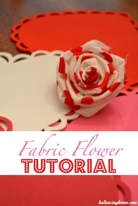 Fabric Flower Tutorial!  I've been wondering how all the girls do it..