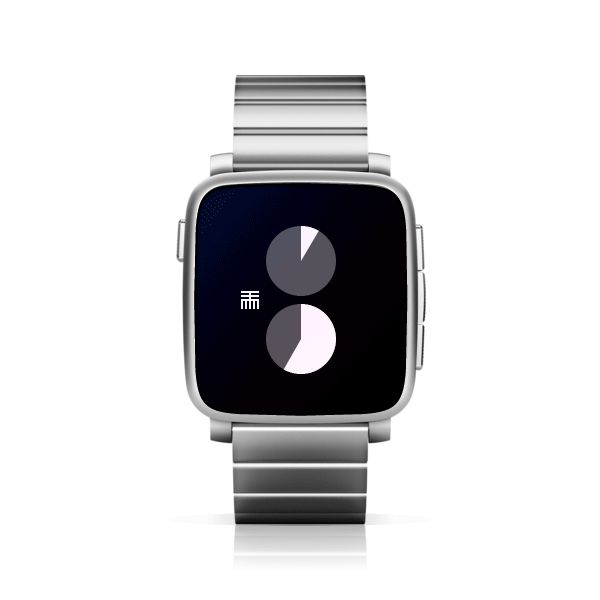 2TTMM for Pebble Time Steel #PebbleTime #PebbleTimeSteel #Pebble #watchface