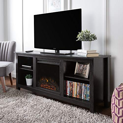 Check Out This Tv Stand Fireplace And Mini Fridge All In One