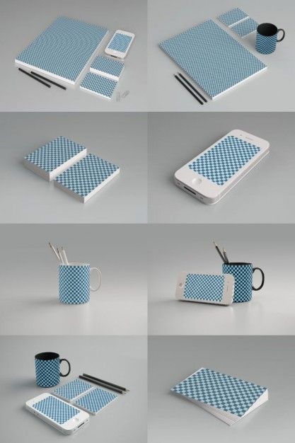 grid pattern product packaging psd layered