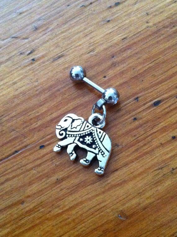 Tragus Piercing - Elephant Tragus Earring - Tragus Barbell, Tragus Earring