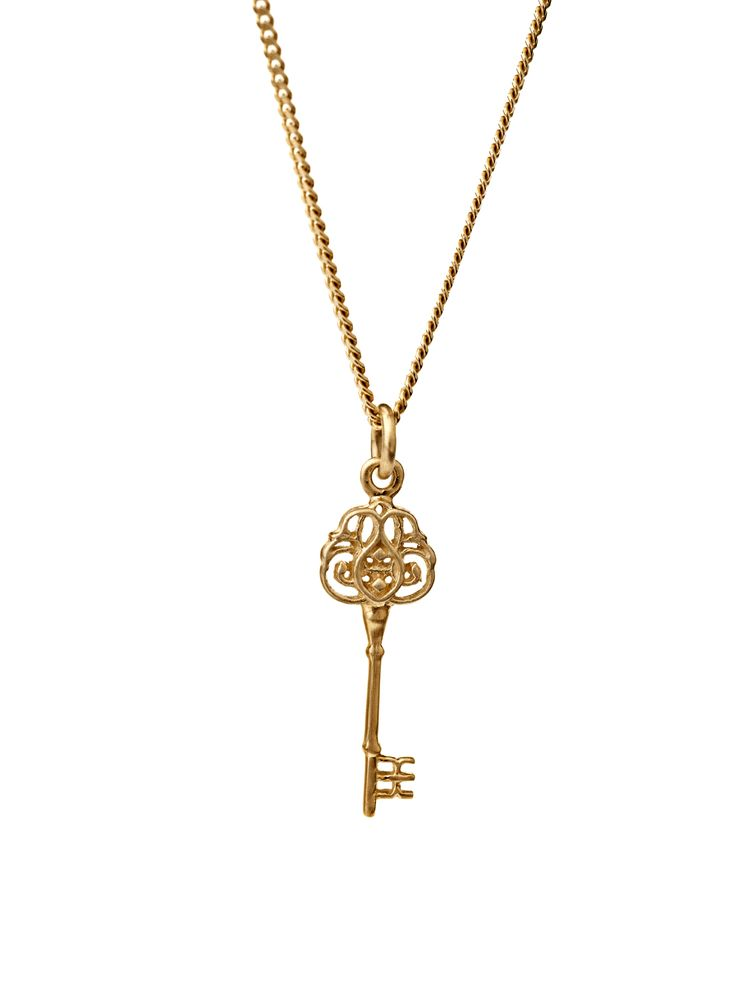 The key. Kinz Kanaan key made in 14K solid gold. The key has endless of meanings, you chose yours.