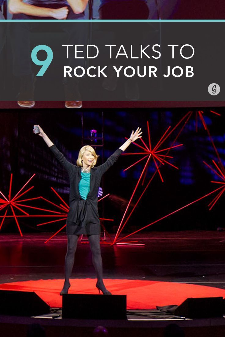 The 9 Best TED Talks to Help You Kick Ass at Work (and in Life) — Need a little extra motivation to achieve your goals? These TED talks will have feeling inspired in no time. #tedtalks #work #inspiration #greatist