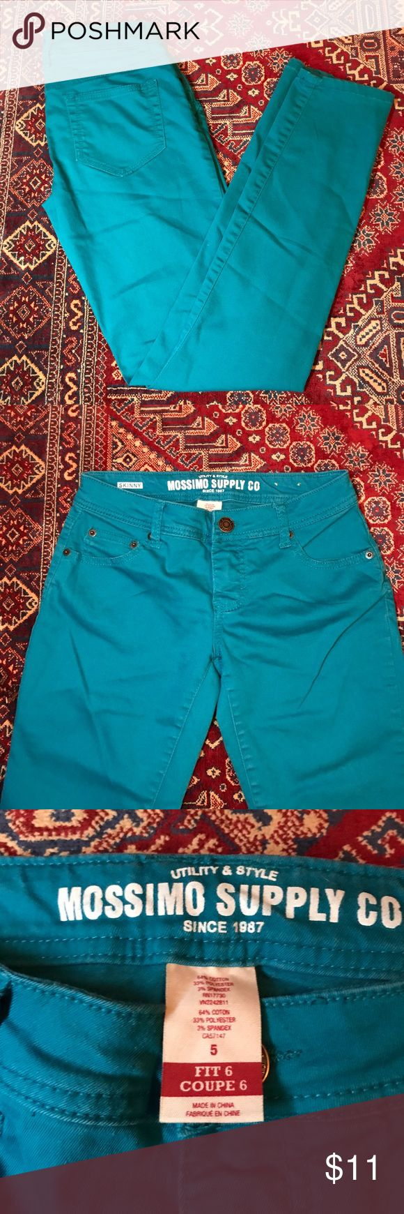 Blue/teal Mossimo skinny jeans Mossimo Supply Co. Blue/Teal skinny jeans/pants Mossimo Supply Co Jeans Skinny