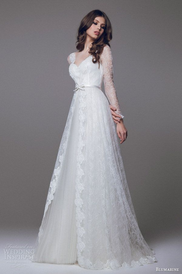 blumarine-2015-bridal-wedding-dress-long-sleeve-lace-overlay.jpg (600×900)