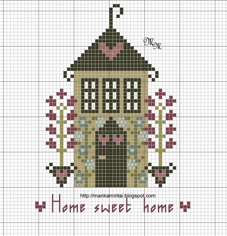 Manka - Apró örömök az életemben: Otthon ,édes otthon - Home sweet home - free pattern