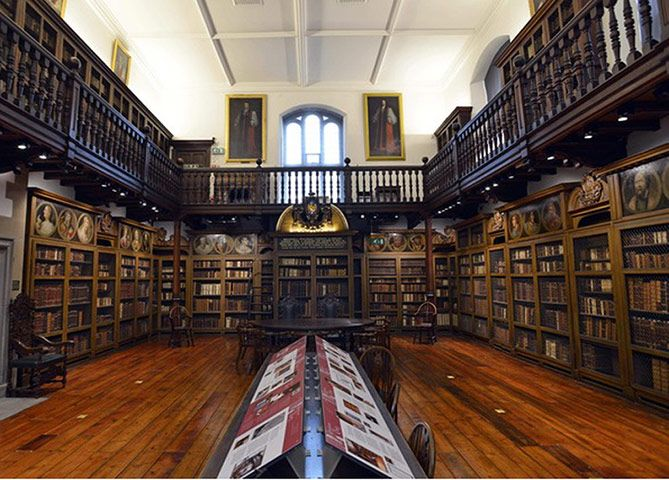 Durham University: 'The Library was originally founded by Bishop John Cosin in the 17th Century. Palace Green Library served as the University's main library for 150 years before focusing on archival and special collections in the 1980s.   I think I shall study and write my dissertation here.