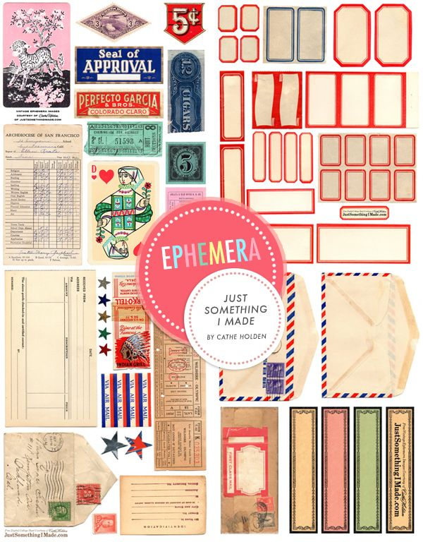 free Ephemera Downloads http://justsomethingimade.com/freebies/ via Noteworthy