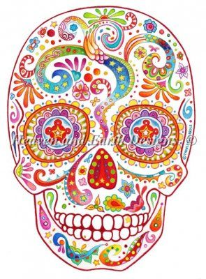 """""""Psychedelic Sugar Skull"""" by Thaneeya McArdle 