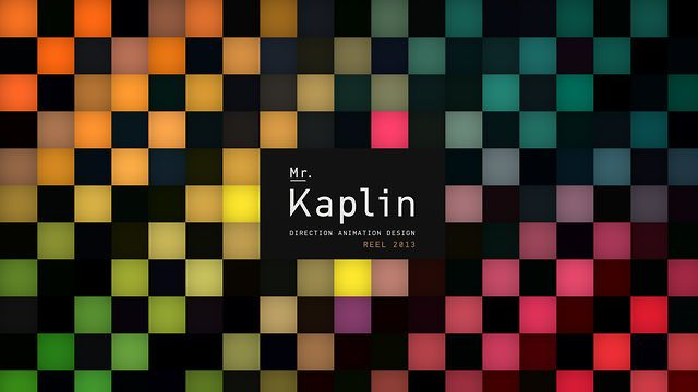 MK Reel 2013 by Mr. Kaplin. In 2012 the two halves of Mr Kaplin moved from opposite ends of the world to meet and call London home. Working from a little studio in Islington they have had a busy year working on projects for Samsung, Chivas Regal, MTV and Channel 4.