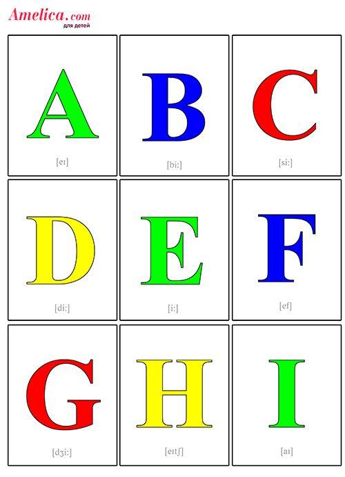 Карточки для детей - Буквы английского алфавита и звуки для детей