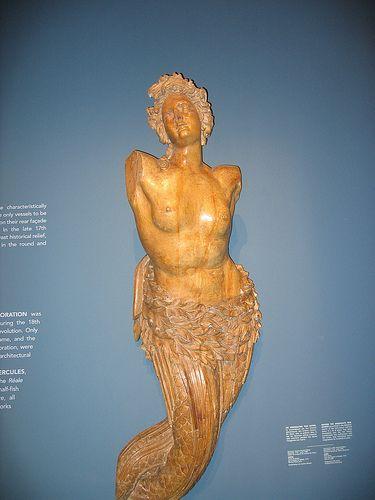 Paris Musée de la Marine, figure de proue: une sirène