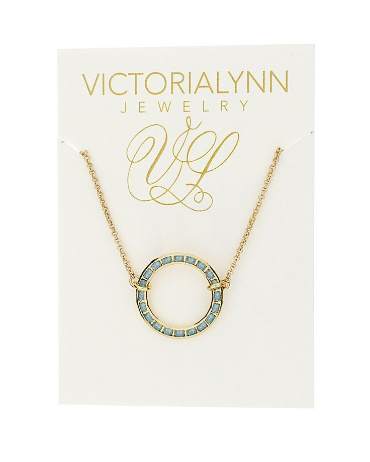 """Victoria Lynn Jewelry """"Shore Line"""" Necklace Pacific Opal from High Stylin' Boutique"""