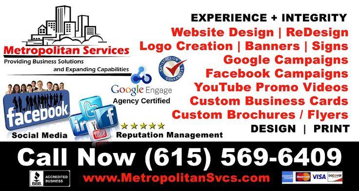 Affordable Custom Website Design and Hosting as well as SEO Marketing, Logos etc. www.MetropolitanSvcs.com