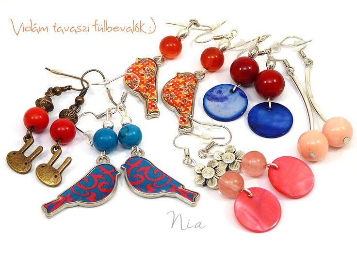 #niaékszer #tavaszi #fülbevalók #earrings