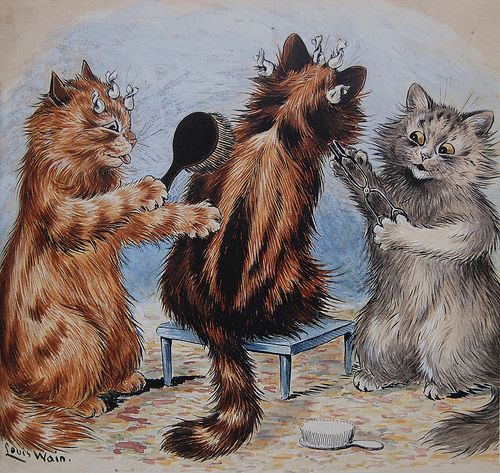 Cats grooming | by Louis Wain