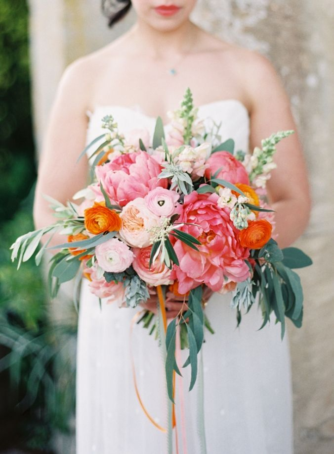 Wedding Bouquets Pink And Orange : Best images about pink weddings on fine