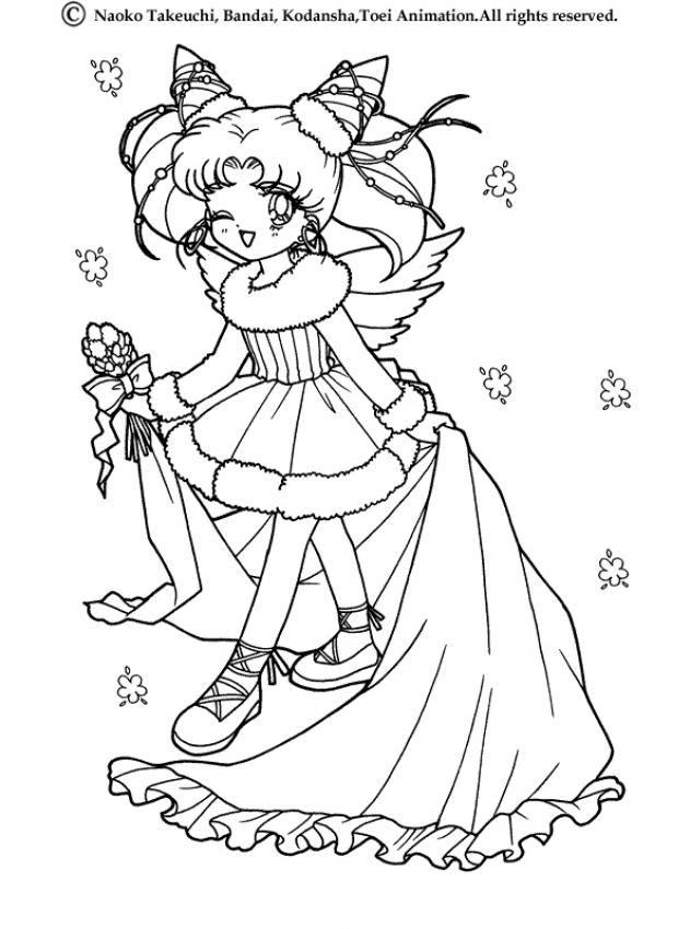 Sailor Moon Princess Coloring Page More Manga Coloring Sheets On