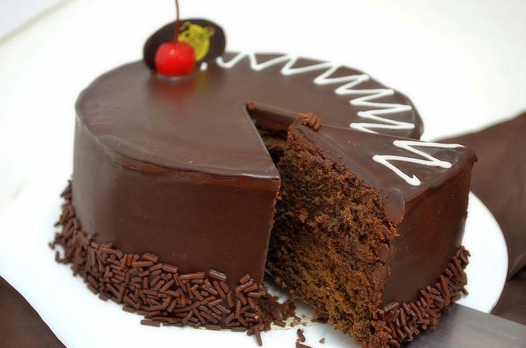 Pastel de chocolate que delicia