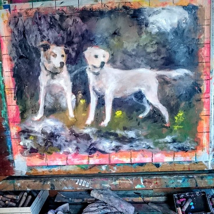 Finally back to doing what I love the most...PAINTING!! This pair are currently on my easel I need to finish this before Saturday because I have a chance to display it as part of the local animal rescue charity's table at a Christmas bazaar.