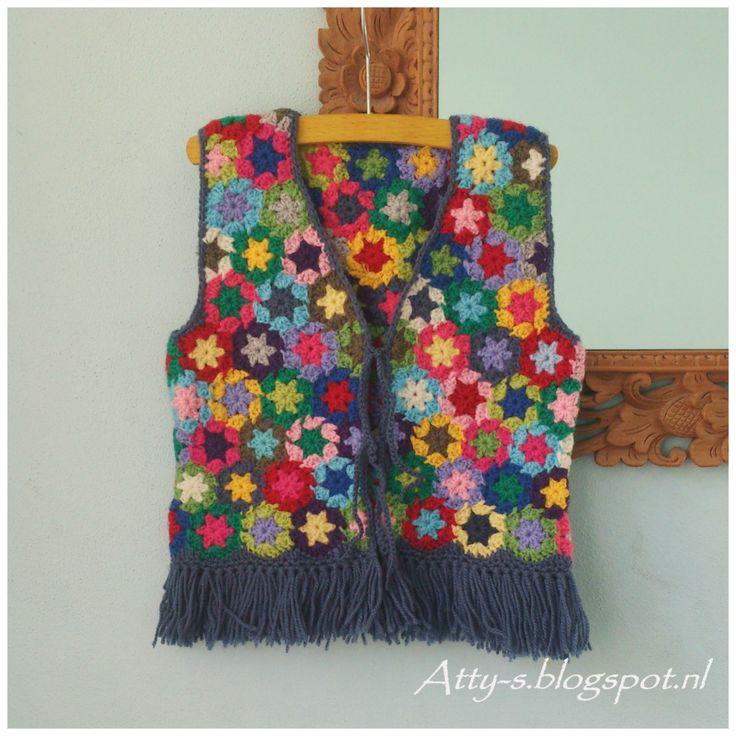 Crochet Vest https://www.facebook.com/AttysLoveForCrochet