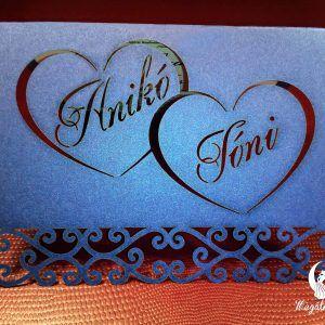 Dupla szív lézervágott esküvői meghívó  #lézervágott #esküvői #meghívó #esküvőimeghívó #lasercutting #wedding #weddinginvitations #heart #doubleheart