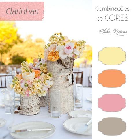 Cores Claras para Decoração de Casamento - Amarelo, Laranja e Rosa