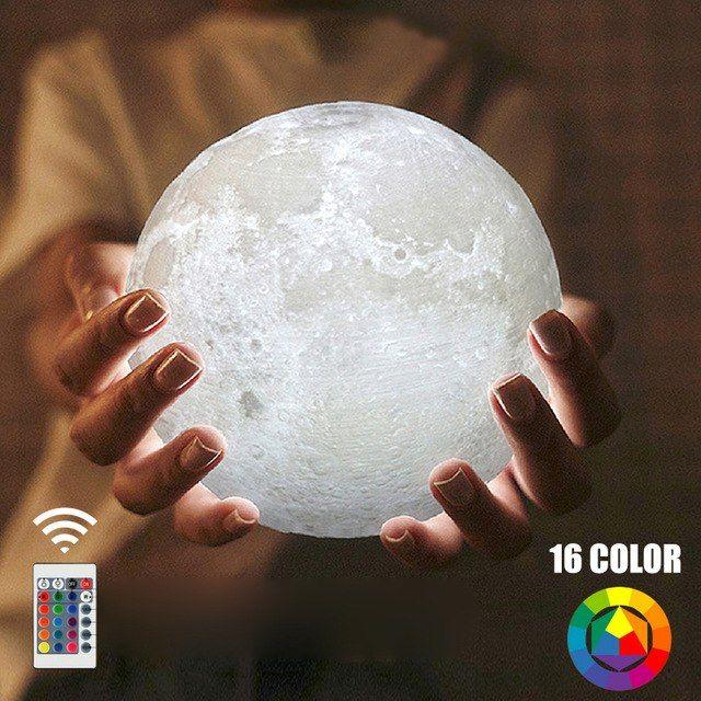 3d Druck Mond Lampe 16 Farben Usb Lade Nacht Licht Wiederaufladbare Touch Schalter Nachtlicht Schlafzimmer Home Motion Sen Bedroom Nightlight Night Light Color