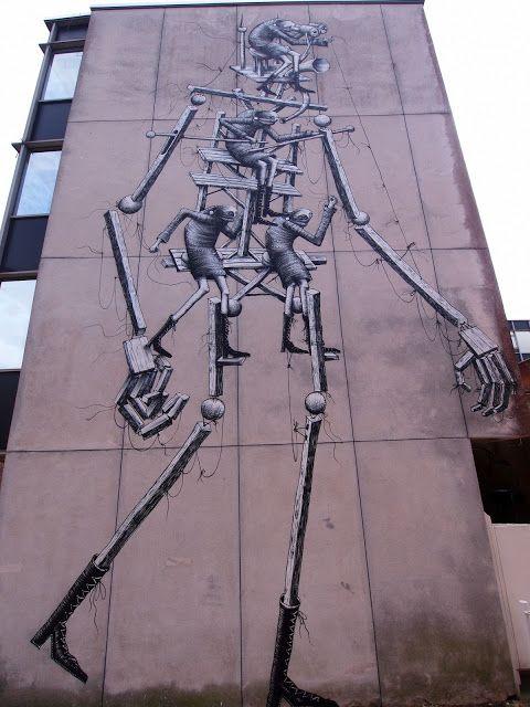 Phlegm New Mural In Chichester, UK
