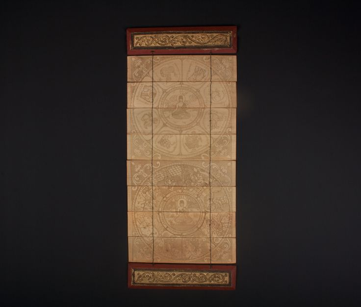 Description Palm leaf Buddhist manuscript Burma, with lacquered wood covers  Date 20th century  www.collectorstrade.de