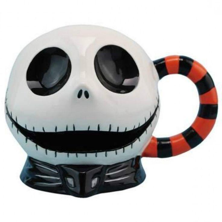 Big Ceramic Coffee Mug Disney Nightmare Before Christmas Jacks Mouth Tim Burton Product Description: Turn Jack Skellington from the Pumpkin King of Halloween Town into the Cookie King of Coffee Town!