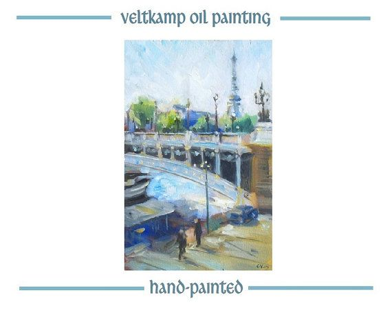 no shipping costs  landscape oil by VeltkampOilPainting on Etsy
